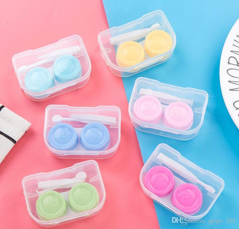 Fácil Carry Travel Glasses Caso de lente de contato