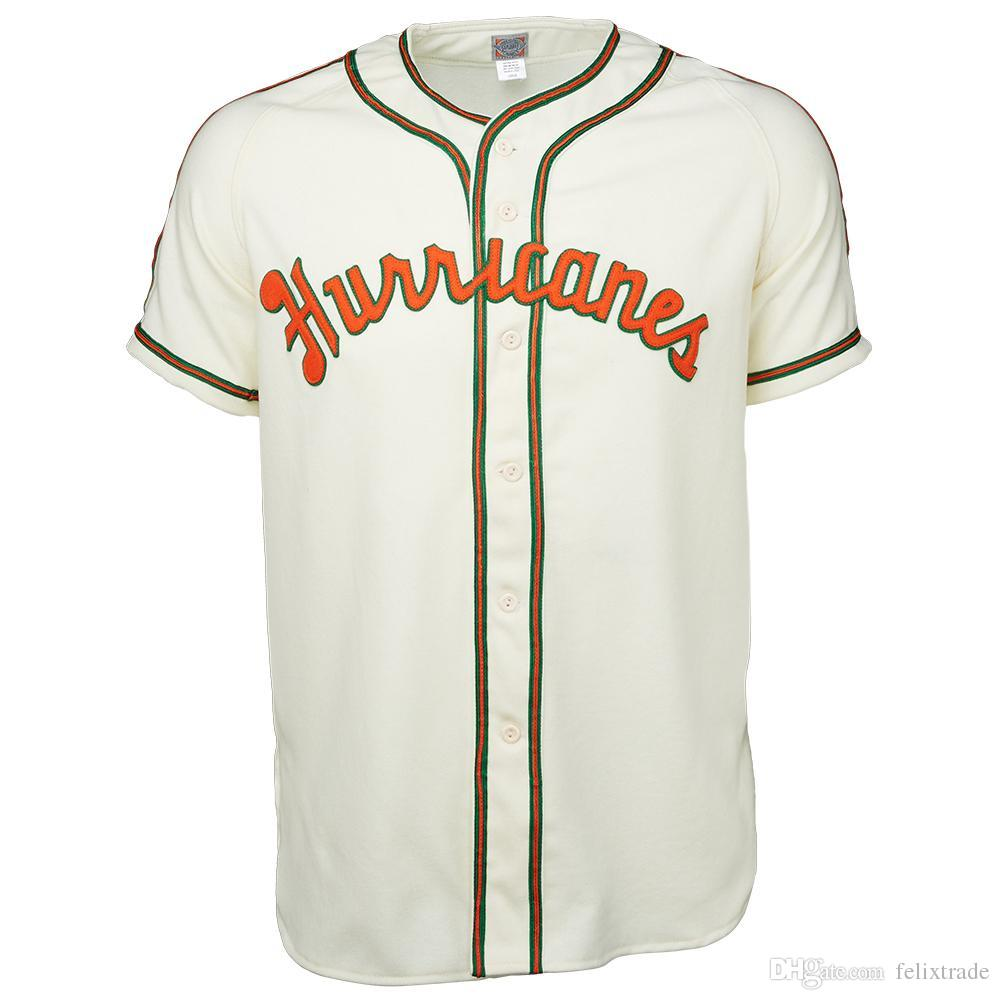 UM Miami Hurricanes University Of Miami 1947 Home Jersey Double Stiched  Baseball Jersey For Men Women Youth Customizable UK 2019 From Felixtrade 7968f3f086