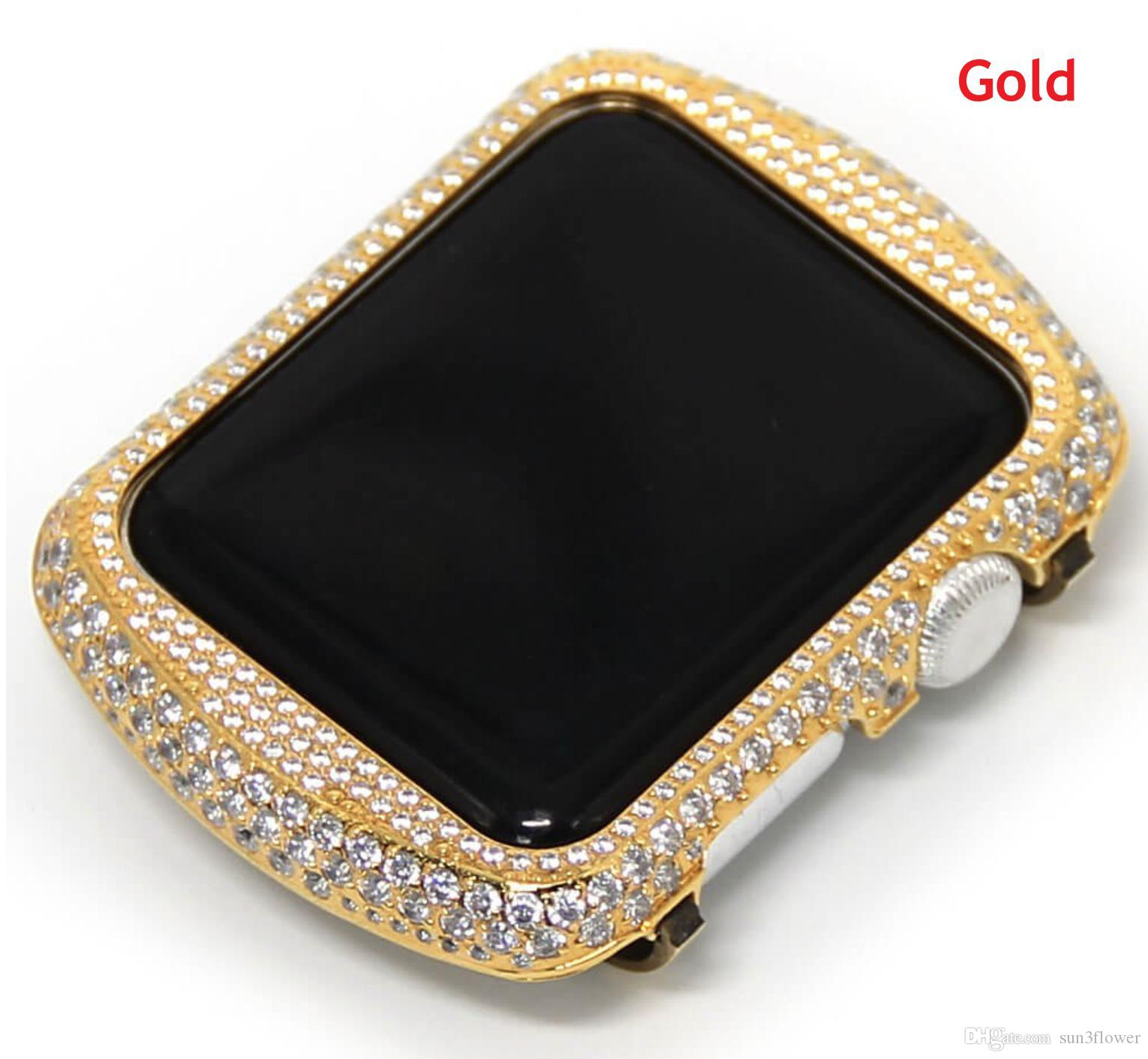 huge selection of 2c2b1 bf6ce Bling Bling Metal Rhinestone Diamond Crystal Jewelry Bezel Cover case  Compatible For Apple Watch Series 3 Series 2 Series 1 38mm 42mm