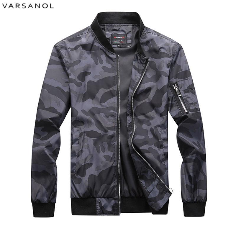 9c87672bb33 Varsanol New 2018 Jacket Men Casual Loose Mens Jacket Bomber And ...