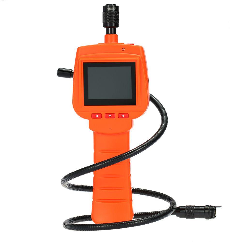 "KKmoon Waterproof Endoscope Inspection Camera 3MP With 2.4"" Screen DVR Video Recorder 9mm Diameter 1 Meters Tube Borescope Zoom"
