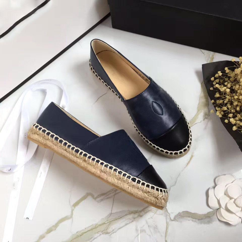 546f53f3aa7 classic Summer Sandals Luxury brand Espadrilles Fisherman shoe Low heel  Genuine leather Leisure shoes Many color size 35-41 model 178532027