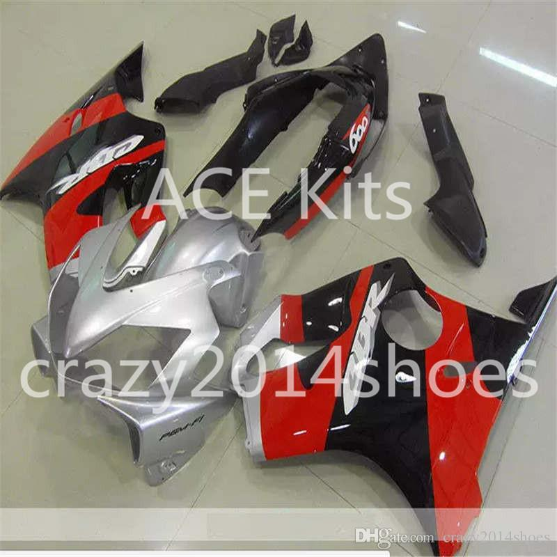 Body repair parts for HONDA CBR600F4I 2004 2005 2006 2007 Injection fairings cbr600 f4i CBR600 f4i 04-07 Red Silver gray fairing kit a15