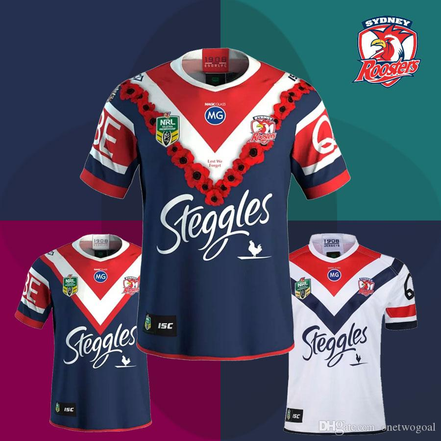 85b2703e6a9 2019 2018 New Sydney Roosters Rugby Jerseys 2019 NRL Home And Away Roosters  Shirts Australia National Rugby League Commemorative Edition Tops From ...