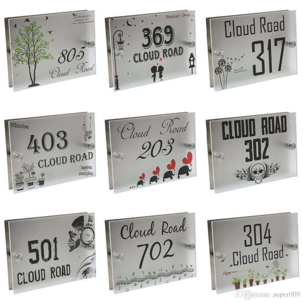 Personalized modern house number door sign plaque street acrylic matte glass top canada 2019 from super009 cad 20 99 dhgate canada
