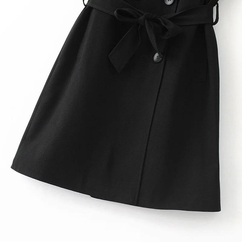 Vintage Epaulet Women's Vest Elegant Double Breasted Female Vest Sashes Slim Womens Fashion Waistcoats Belt Female Waistcoats