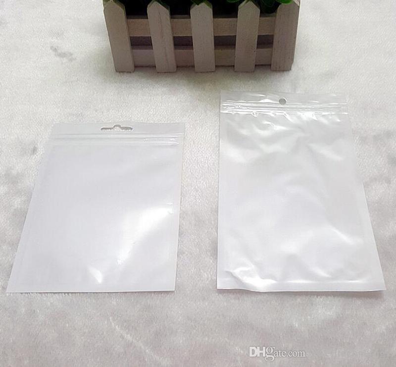Effacer blanc perle en plastique Poly poly emballage OPP fermeture à glissière serrure zip forfaits de détail bijoux alimentaire sac en plastique PVC plusieurs taille disponible téléphone cas usb