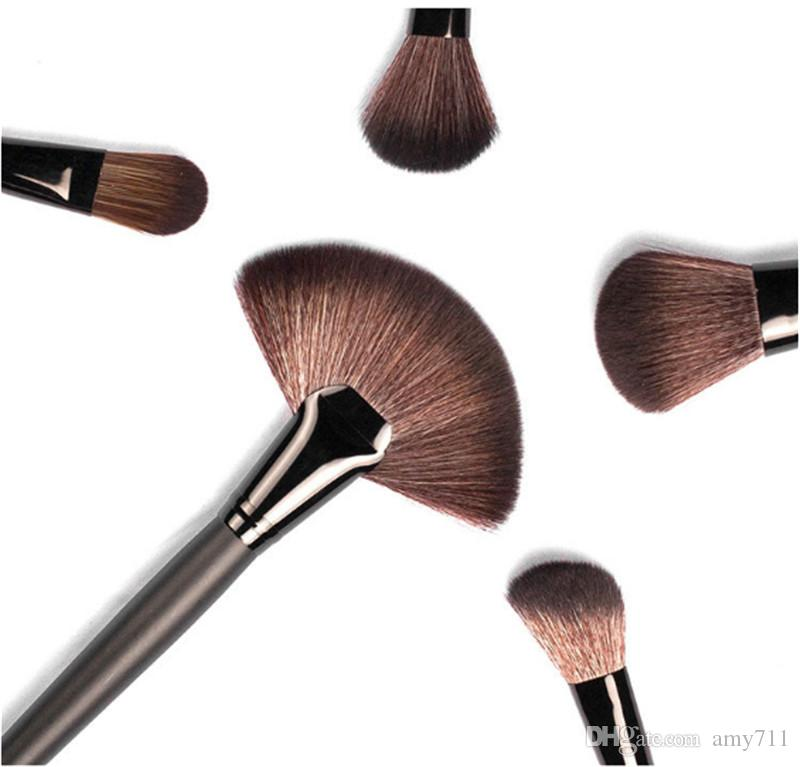 New Makeup Brushes Makeup Tools Professional Brush sets Horse Hair Black High Quality DHL shipping+Gift