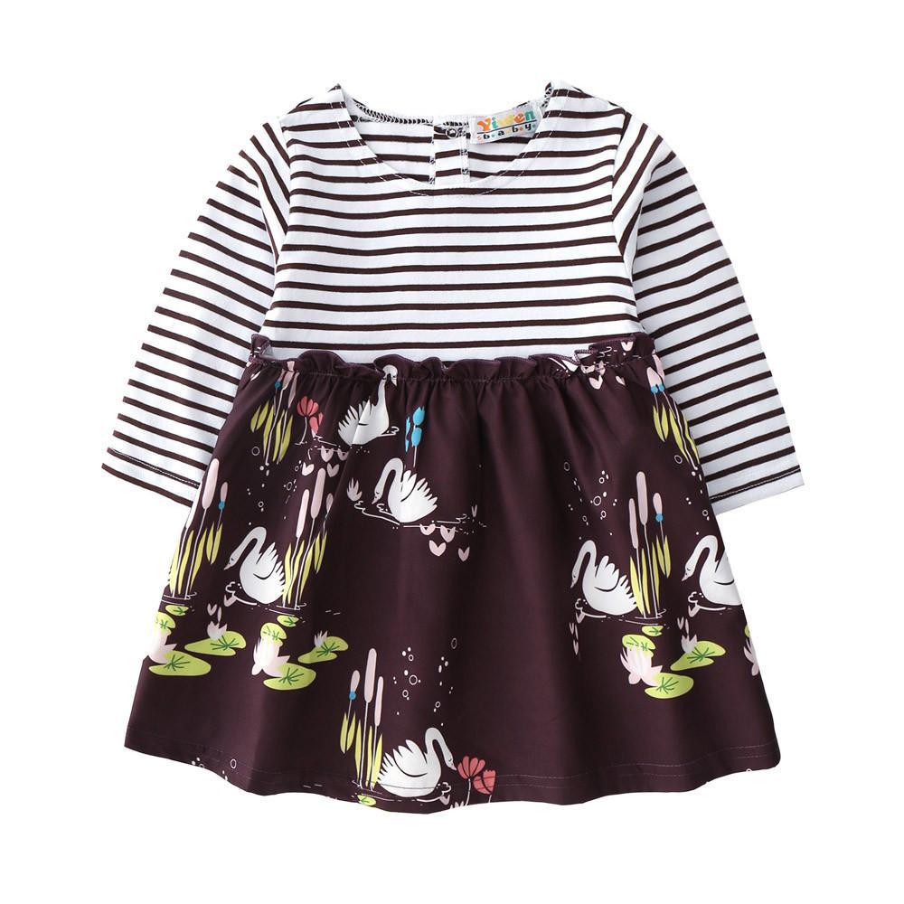 17260991d MUQGEW stripe baby girls niños vestido de princesa recién nacido infantil  niño niñas rayas estampado floral princesa vestidos trajes