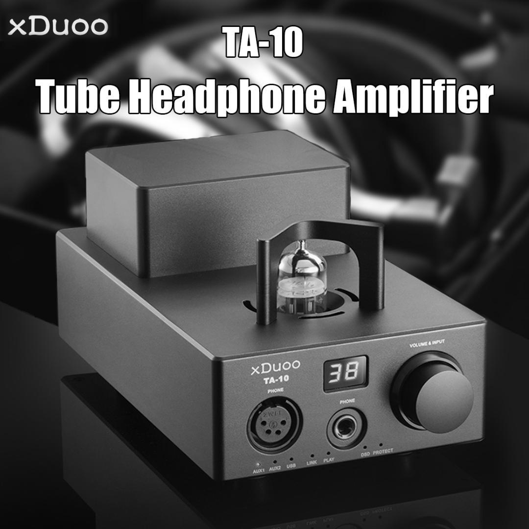 Xduoo TA-10 AK4490 XMOS USB DSD DAC 12AU7 Tube Headphone AUX Input Digital  Interface High Performance Balanced Power