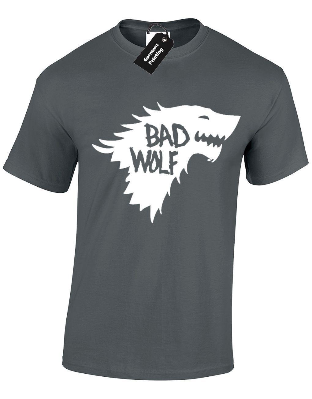 492c7a33c330 BAD DIRE WOLF MENS T SHIRT GHOST DRAGON CROWS NORTH KING WALL CASTLE BLACK  NEW Dirty T Shirts Graphic Tee Shirts From Linnan006