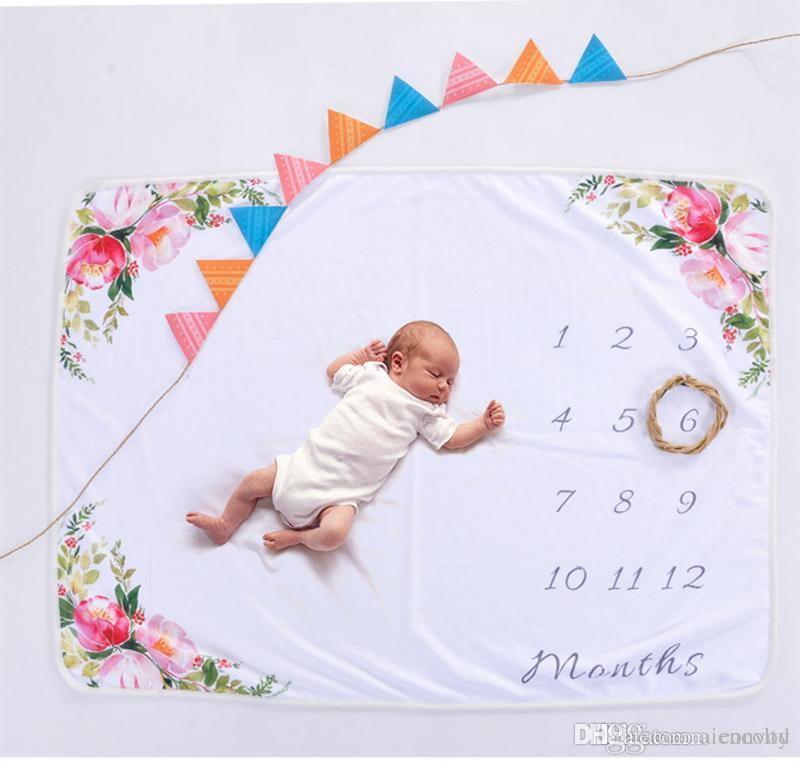 Großhandel Neugeborenes Baby Fotografie Decke Buchstaben Zahlen ...
