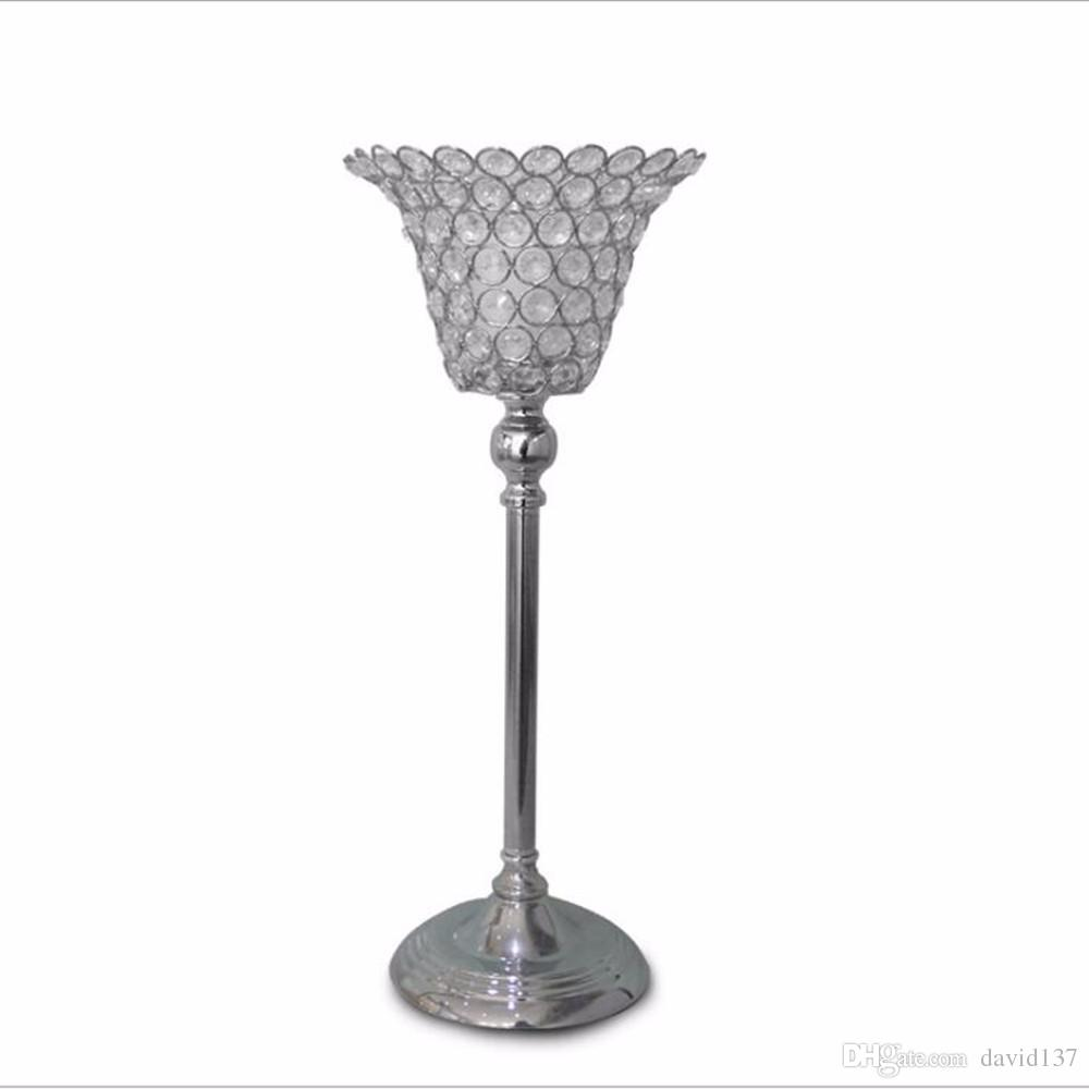 Pillar Crystal Kerzenhalter, Kristall Perlen Kerzenhalter