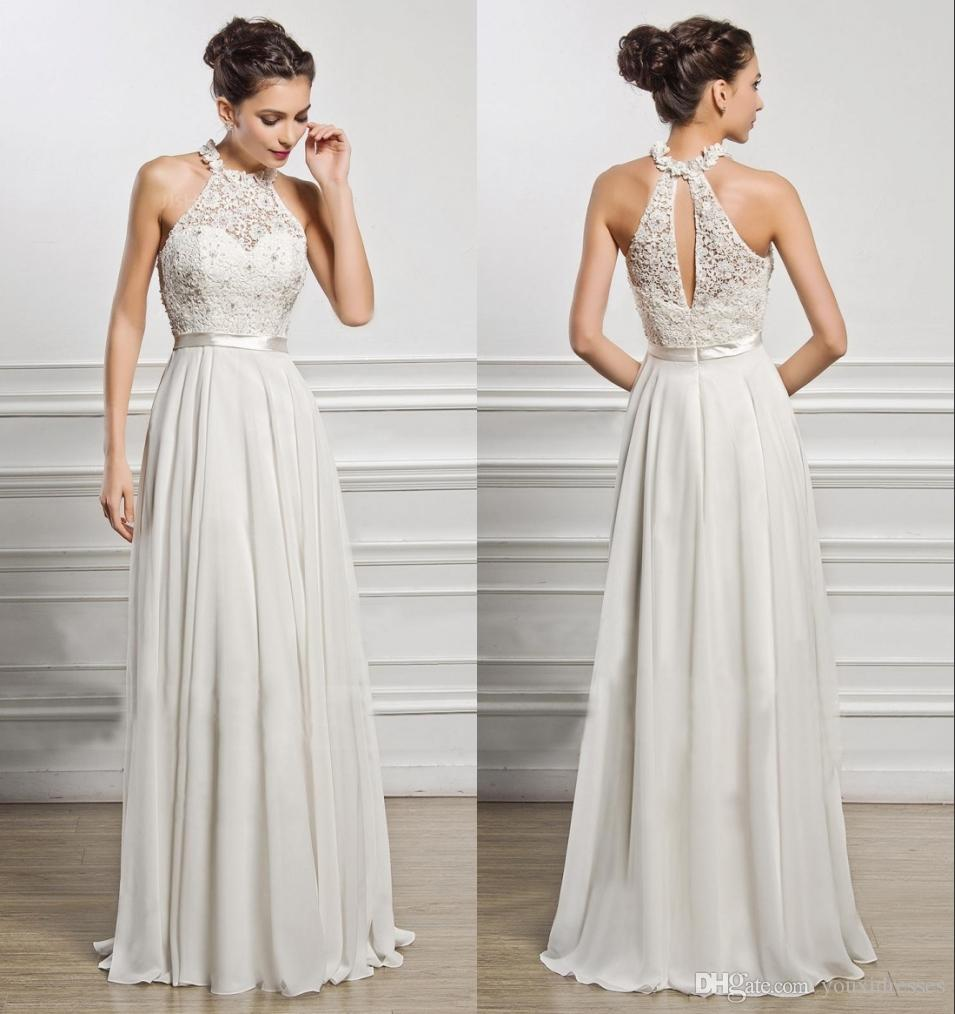 0d6510b73ba5 Sexy Halter Off the Shoulder Chiffon Appliqued Lace Long Prom ...