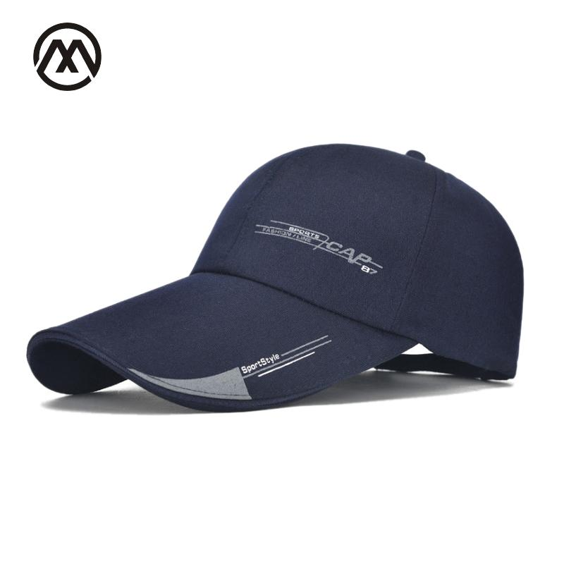 22ec58ae794 Men s Outdoor Baseball Cap Extended Visor Hat Dad Hats Fishing Sun  Protection Navy Black Strong Bone Golf Sport Style Trucker Snapback Caps  Fitted Hats From ...