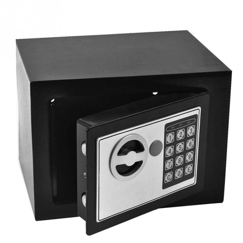 Mini Digital Steel Electronic Money Safe Box Keypad Lock Bank ATM for Coins  and Bills Code Key Case system Money Saving box
