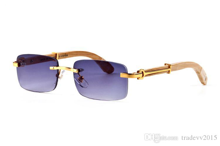 14 couleurs Lunettes de soleil bois sans monture vente chaude Naturel lunettes de cornes de buffle noir pour hommes lunettes de luxe lunettes taille: 55-140mm