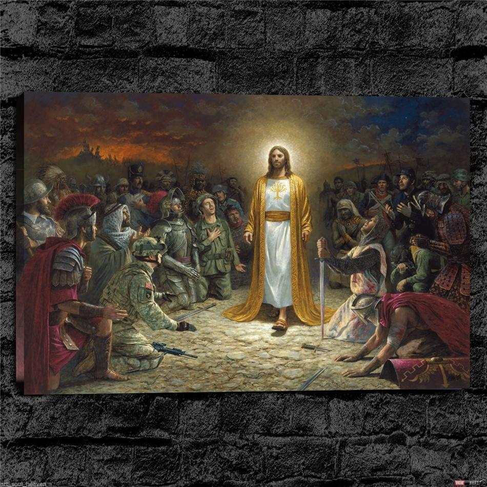 2019 Religious Christian Canvas Prints Wall Art Oil Painting Home