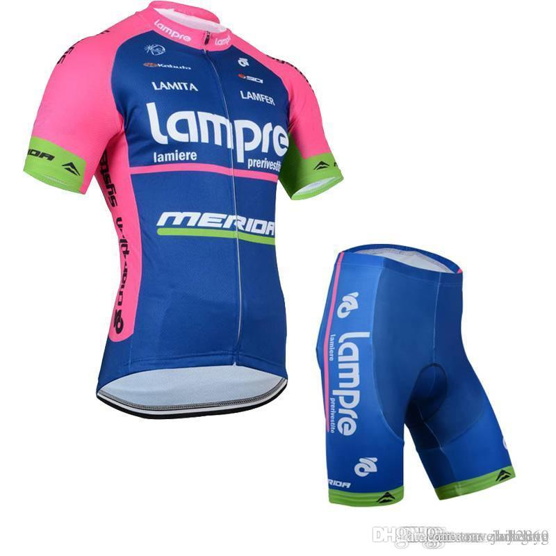 540eaa636 LAMPRE Team Cycling Short Sleeves Jersey Bib Shorts Sets Men Thin ...