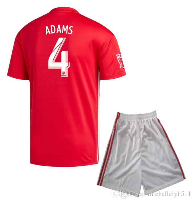 2019 18 19 New York Red Soccer Jersey Shorts 2018 2019 WRIGHT PHILLIPS  ADAMS Football Kit Adults Outdoor Sports Set Mens Thai Quality Soccer Suit  From ... 2e38dce7aac
