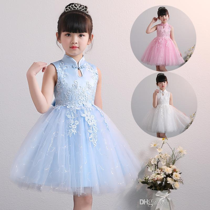 b85ff7fd37d Small And Middle Child Evening Dress Skirt Summer Cheongsam Princess Dresses  Flower Girl Net Tutu Skirt Dresses Of Girls Dresses Photos From  Zsfvswxm168