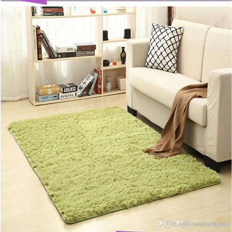 Hot Sale Non Slip Carpet Fluffy Rugs Anti Skid Shaggy Area Rug Dining Room Home Bedroom Living Carpets Floor Yoga Mat Olefin Textured