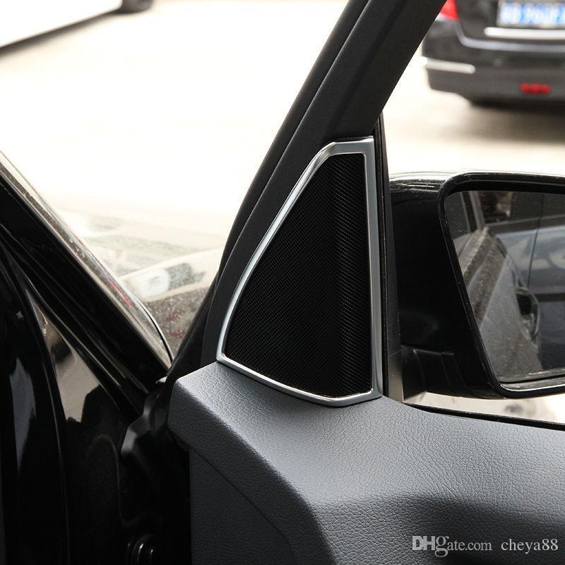 Chrome Door Speaker Cover Frame Trim for Mercedes Benz GLK X204 GLK200 260  2009-2015 Car Accessory