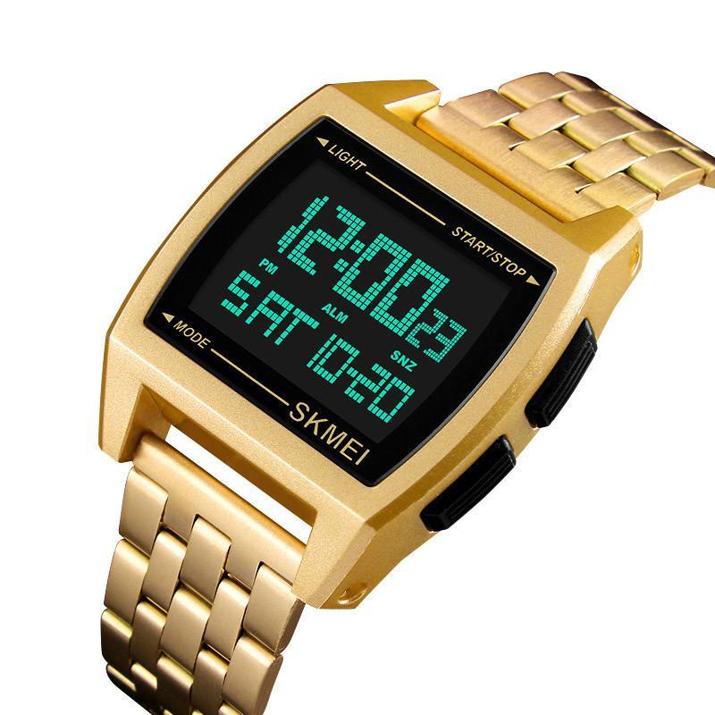 072f2233757 Compre Relógio Digital Homens Esportes Ao Ar Livre Tonneau Relógios LED  Display Homens Relógio De Pulso Moda Casual Relogio Masculino 1368 Saati De  ...