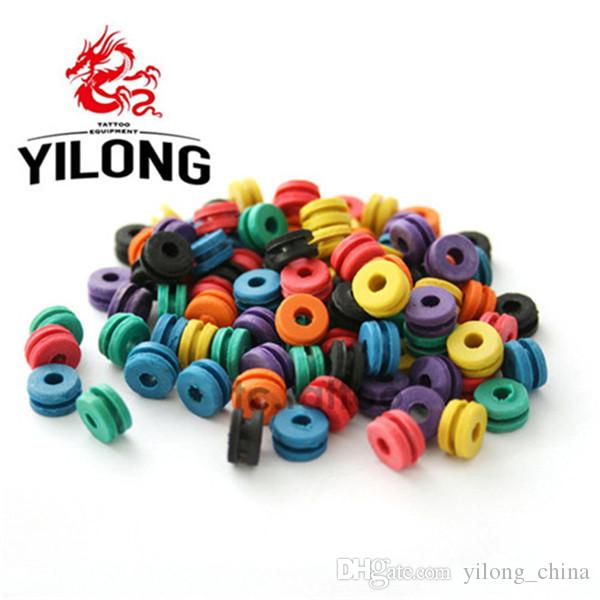 YILONG New Tattoo Colorful Rubber Cushion Tattoo Needle Pad Grommets Nipples Tattoo Accessories