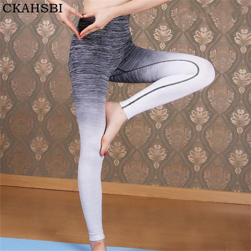 fdee1aaeb68a4 CKAHSBI Elastic Sports Pants Gym Sports Fitness Women Yoga Legging Yoga  Pants Tights Compression Trousers Running Tights Yoga Pants Cheap Yoga Pants  CKAHSBI ...