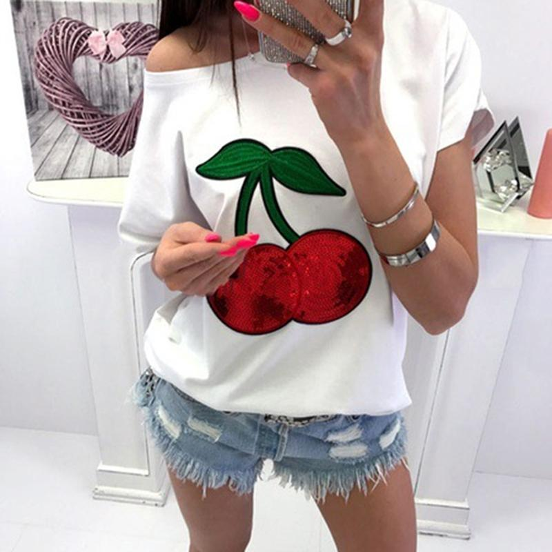 Gepäck & Taschen Modestil Sommer 2017 Frauen Baumwolle T-shirt O Hals Kurzarm Schulterfrei Sexy Lose Beiläufige Weibliche T-shirts Femme Tees Top
