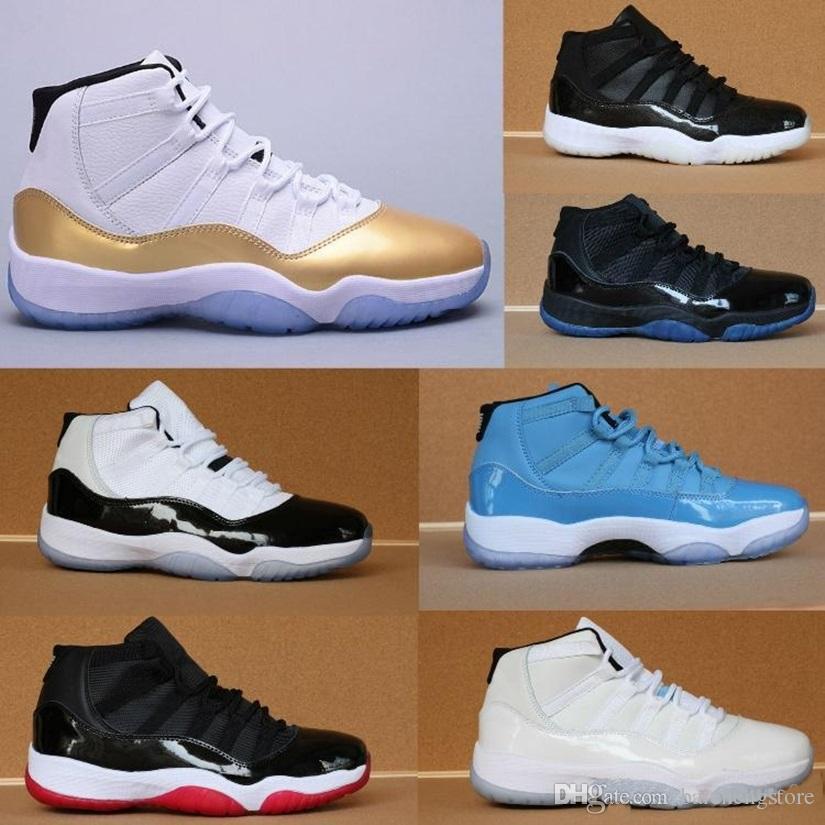 low priced a4479 7ec4c Großhandel Nike Air Jordan 11 AJ11 Retro 11 Prom Night Cap Und Kleid  Blackout Win Wie 82 96 Gym Rot Chicago Midnight Navy Basketballschuhe 11s  Bred Space ...