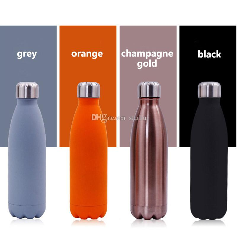 500ML Water Cup Insulation Mug Vacuum Bottle Sports 304 Stainless Steel Cola Bowling Shape Travel Mugs Free DHL WX9-426