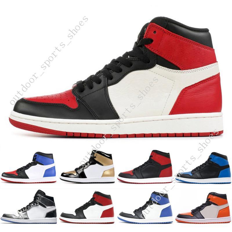 timeless design aa3d5 4a655 1s OG 1 top 3 mens basketball shoes Homage To Home Banned Bred Toe Black  White Chicago Royal Blue Storm Fragment men sport sneakers designer