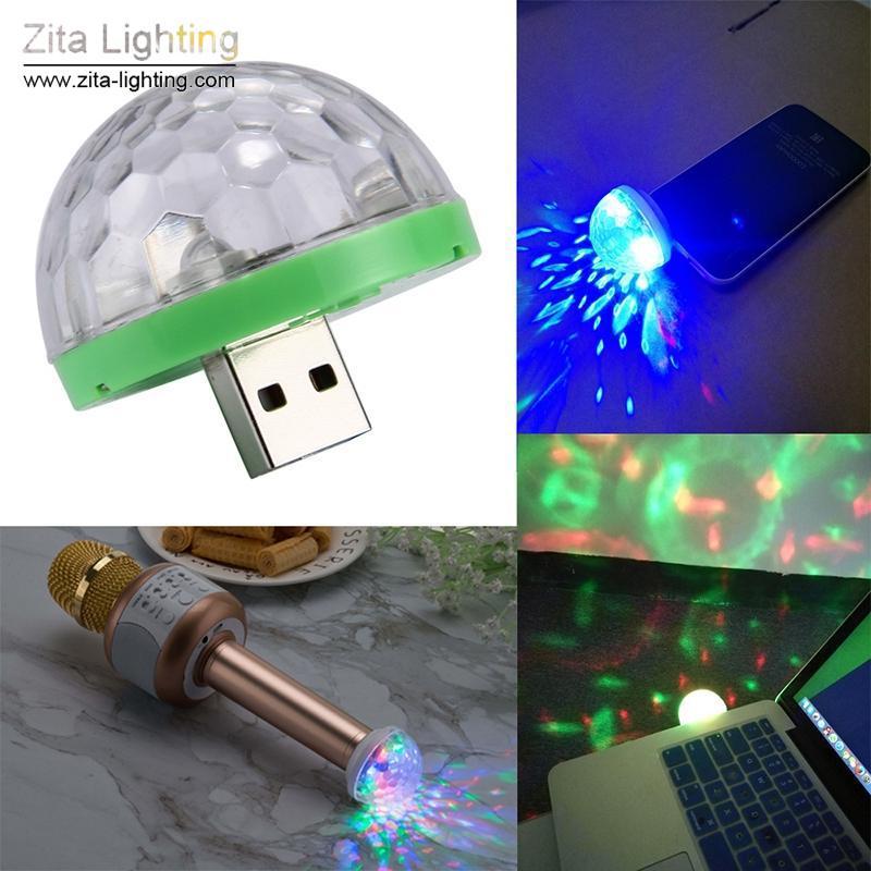 Zita Lighting 5V Mini USB Led Stage Light Music Control Light KTV DJ Disco Stage Effects Lamps Microphone Colorful Light Portable Fixture