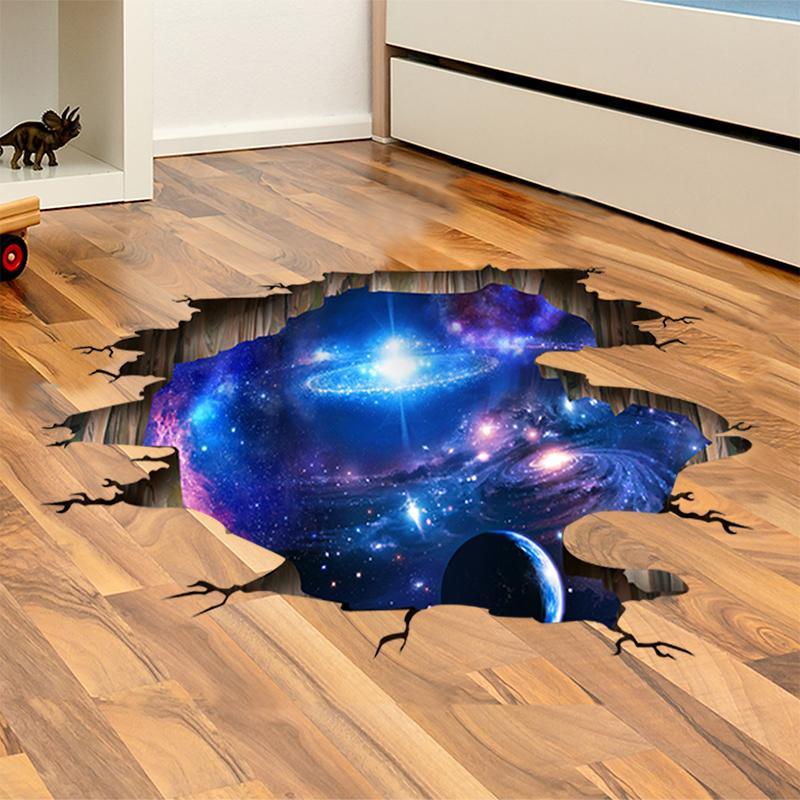 Venta al por mayor 60 * 90cm DIY 3D Universo pared Galaxy pegatinas de vinilo Suelo Techo decoración libre del envío