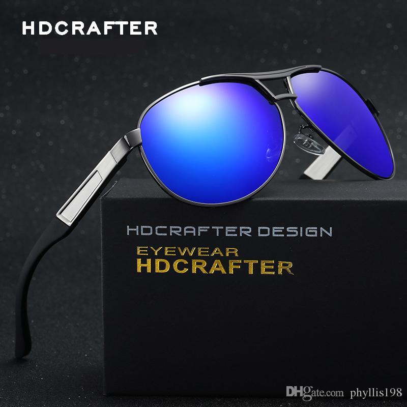 f5877787b1 HDCRAFTER Designer Polarized Sunglasses Classic Outdoor Riding Men ...
