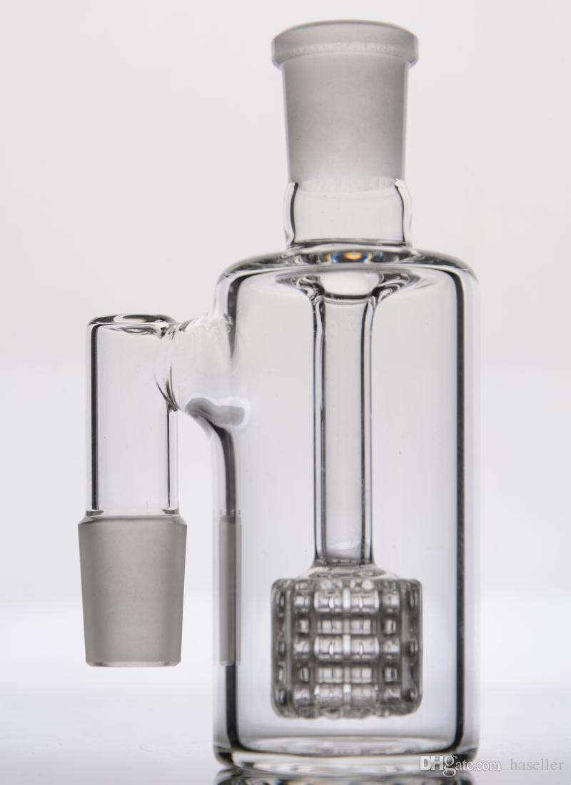 glass burner Mini Smoking Handle Pipes Ashcatchers Pre-Coolers Drum stereo matrix perc glass bongs waterpipe tubes clips chamber pipes