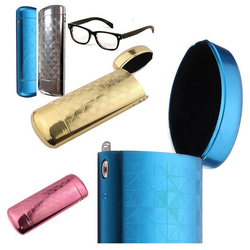 New Fashion Hard Metal Aluminum Lattice Glasses Case Capsule Flip Top  Eyeglasses Case Protector For Glasses Storage Tools Optical Glasses  Prescription ...