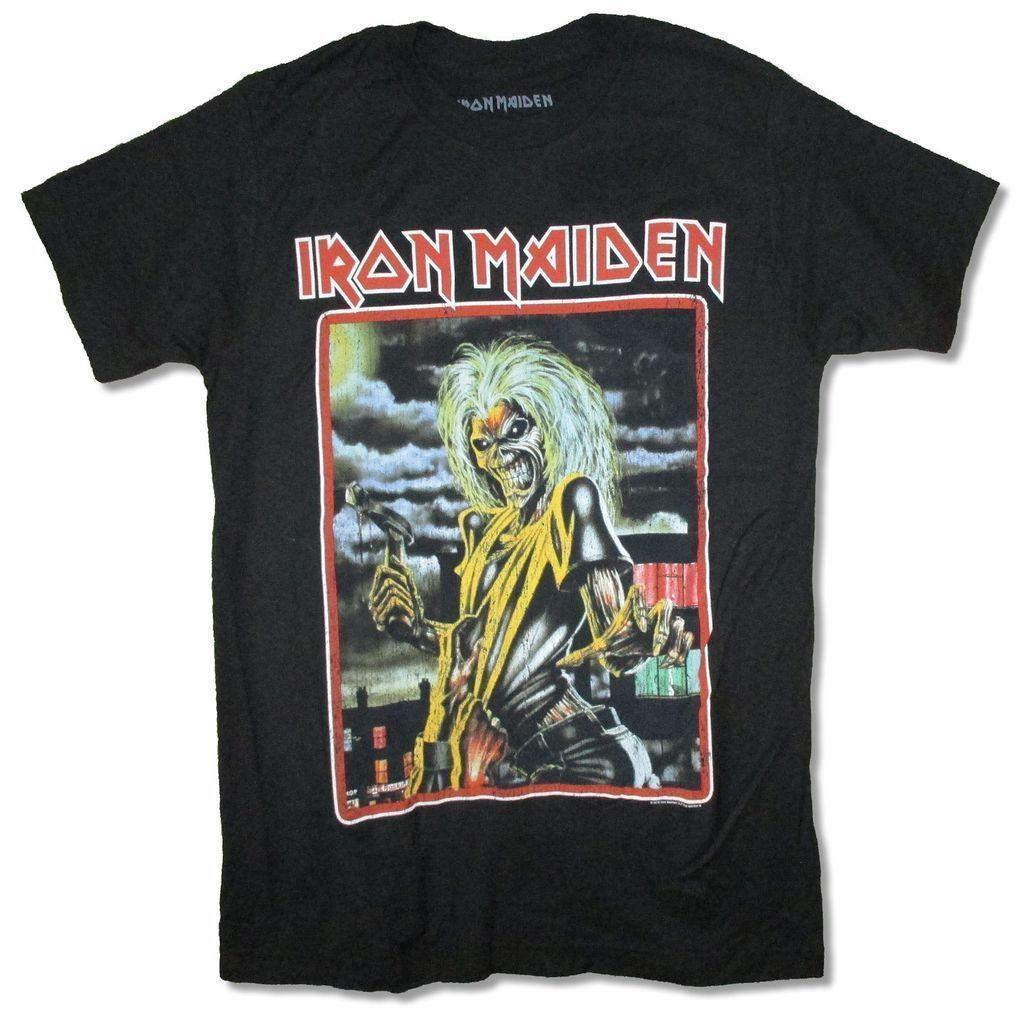 Großhandel Iron Maiden Killers Rahmen Bild Ed Black T Shirt Neue ...