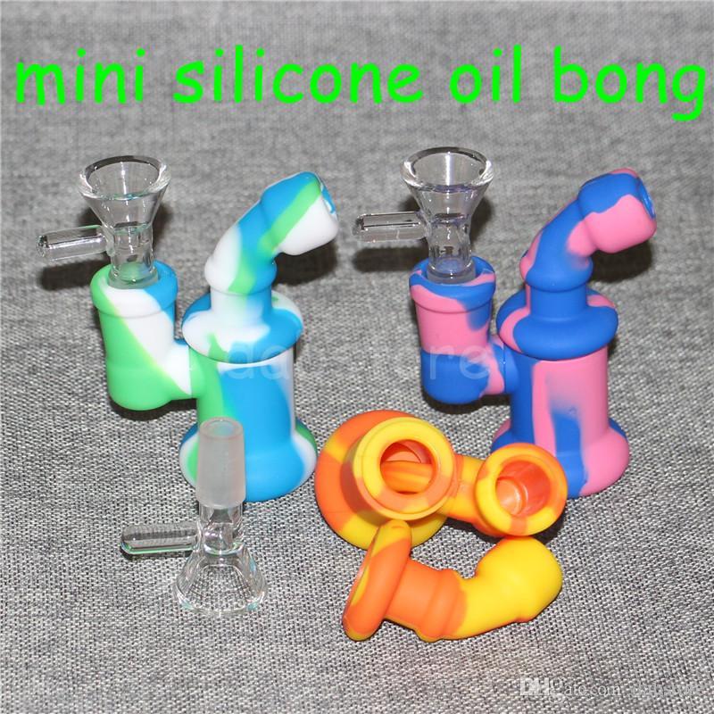 bruciatore di olio di silicone gorgogliatore di acqua tubo di bong piccoli bruciatori tubi bubbler dab rigs piattaforma petrolifera fumatori mini inebriante bonger bong