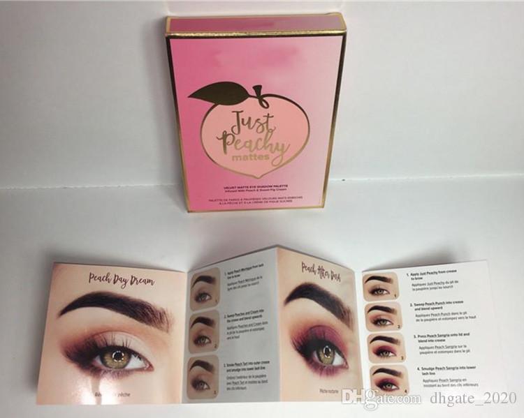 دروبشيبينغ Just Peachy Matte Eyeshadow Palette Eyeshadow Makeup المخملية غير لامع ظلال العيون لوحة