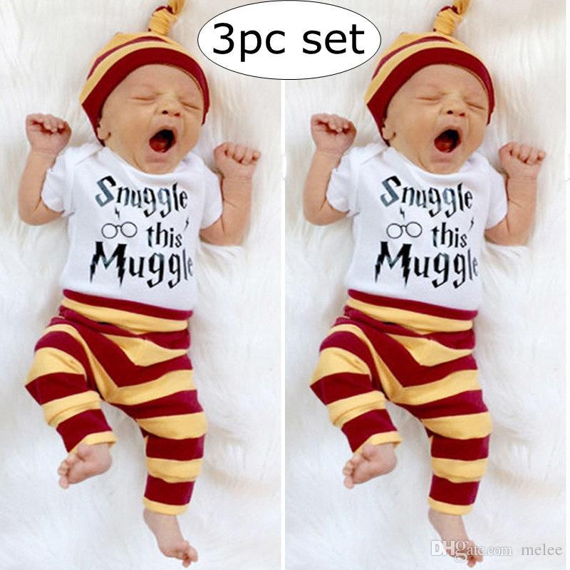 1986b0110 2019 0 2Y INS Summer Newborn Baby Boys Top Romper Pants Leggings Hat ...
