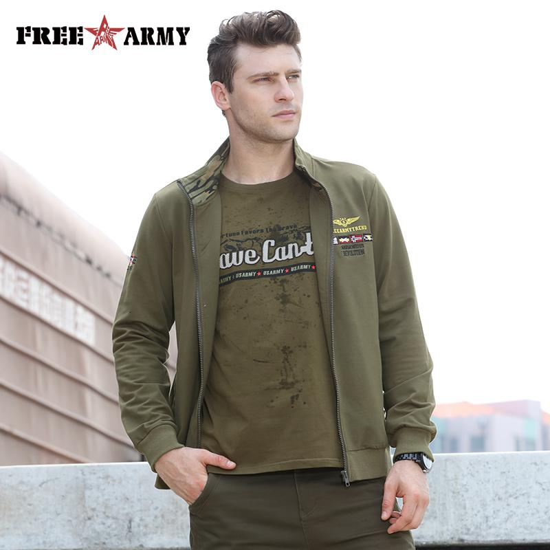 a16b92da 2018 Fashion Men's Jackets Casual Army Green Solid Large Size Jacket ...