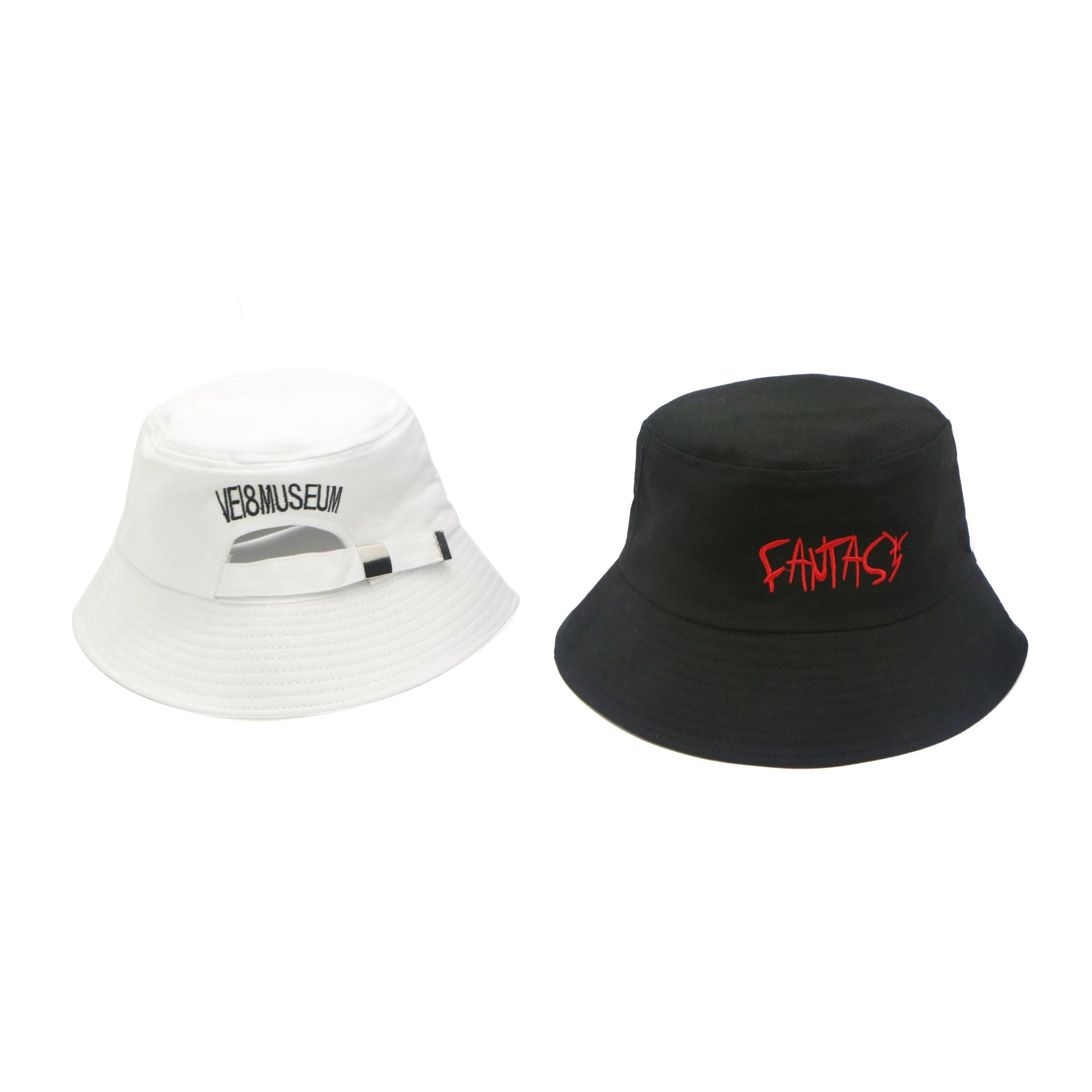 Black White Cotton Embroidery Letter Adjustable Fisherman S Hat Sun Cap  Snapback Hats Oversized Sunbonnet Beach Cap For Women Man Cap Hat From  Hearting 448ffef693f