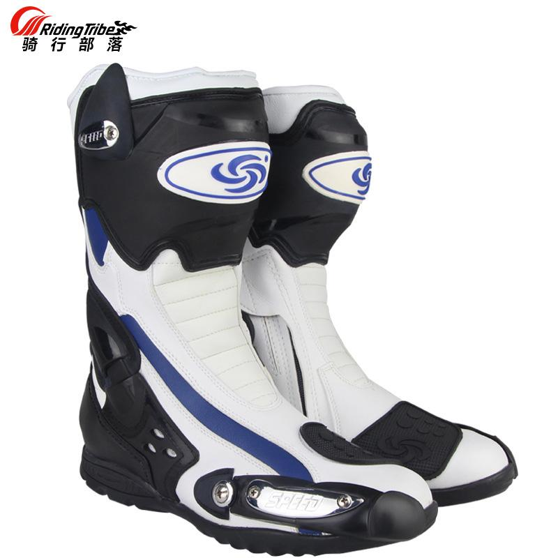 f487df90990743 NEW Hot Motorcycle Boots SPEED BIKER BOOT Racing Shoes Riding Tribe ...