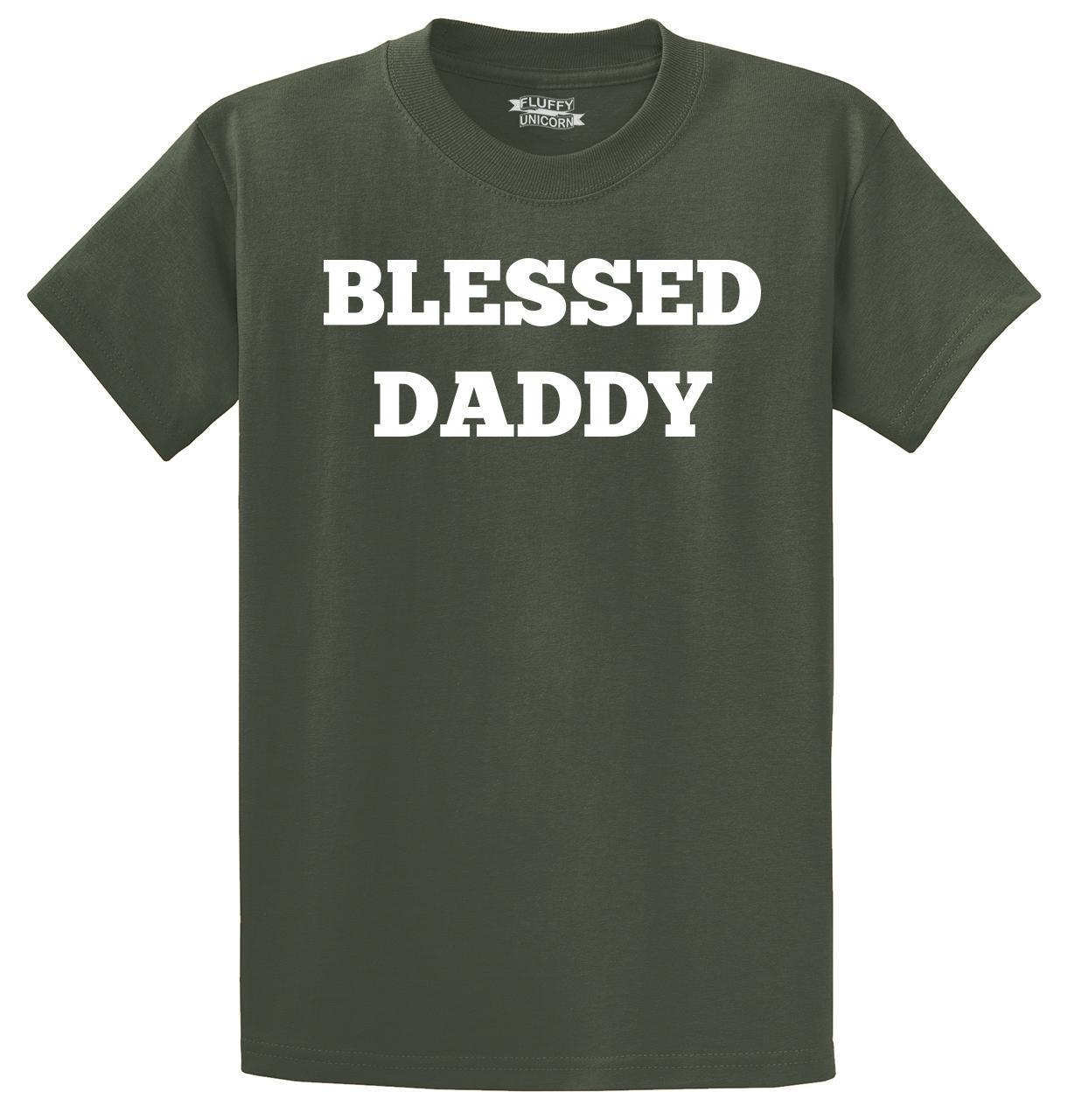e0343f0ab Mens Blessed Daddy T Shirt Fathers Day Husband Shirt Funny Unisex Casual Tee  Gift T Shirt S Tees Shirts From Elite_direct, $12.96| DHgate.Com