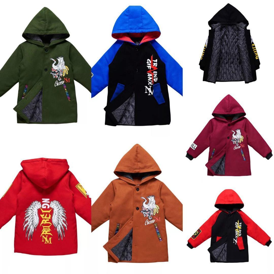 brand new 2a09b aea3b Winterjacke für Jungen Kinder Baumwolljacke Mit Kapuze MäntelParkas Dicke  Kinder Mantel Kid Kleidung Jungen Kleidung CA418