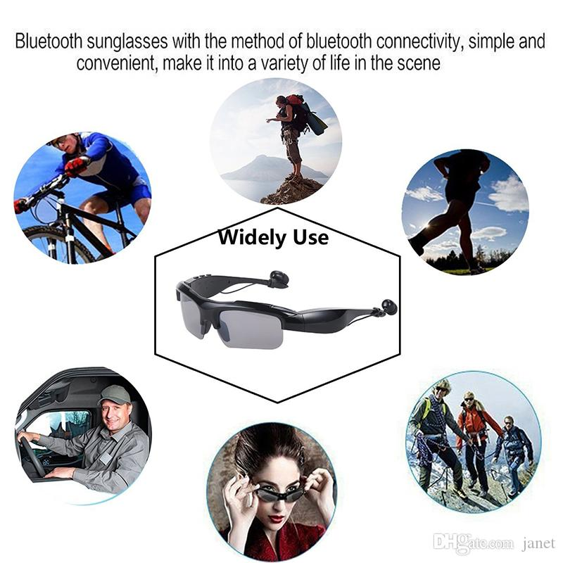 Sunglasses Bluetooth Headset Wireless Sports Headphones Sunglass Stereo Hands free Earphones mp3 Music Player With Retail Packages