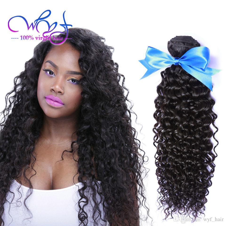 Wyf Brazilian Curly Human Hair Weaves Curly Hair Extensions 3
